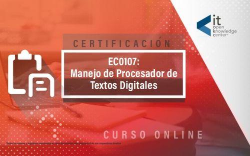 EC0107 Manejo de procesador de textos digitales