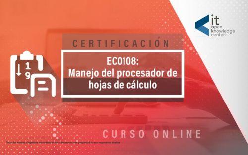 EC0108 Manejo del procesador de hojas de cálculo