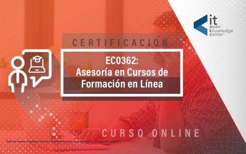EC0362 Asesoría en cursos de formación en línea