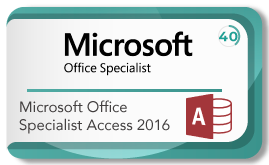 Microsoft office specialist access 2016