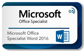 Microsoft office specialist word 2016