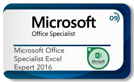 Microsoft office specialist excel 2016
