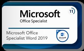 Microsoft office specialist word 2019