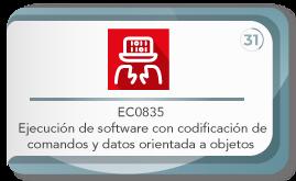 EC0835 ejecución de software con codificación de comandos y datos orientada a objetos